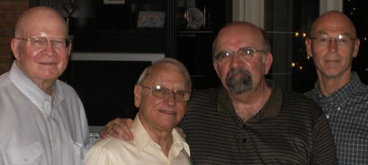 Photo: Drs. Rhoton, Diaz, Wilson and Harris at 2008 Reunion