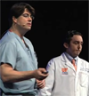 UF Neurosurgeon Kelly Foote with Neurologist Michael Okun