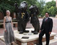 Photo: Dr. Jobina Whiting and Dr. Rick Bhasin at Emerson Alumni Hall